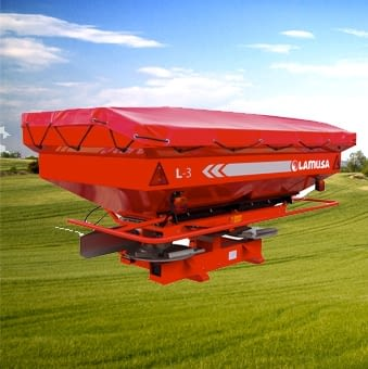 Mounted fertiliser spreaders